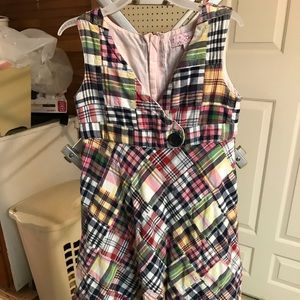 Gap girls plaid sleeveless dress, size 4-5